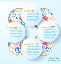school abstract infographic template vector image vector image