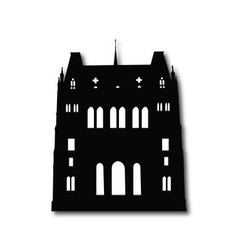 Silhouette of old building vector image vector image