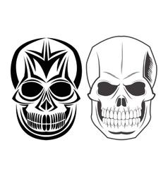 Skull tattoo face design vector