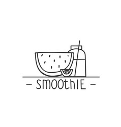 smoothie - hand drawn brush text badge sticker vector image vector image