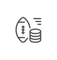 sports betting line icon vector image vector image