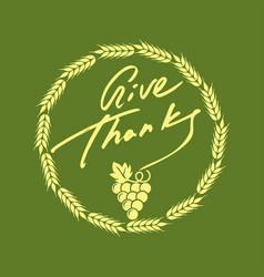 Thanksgiving day symbols vector