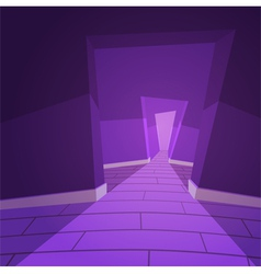 The hallway vector
