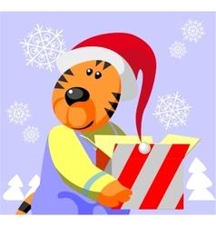 Tiger color 05 vector image vector image