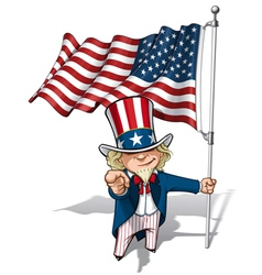 Uncle Sam I Want You American Flag vector image vector image