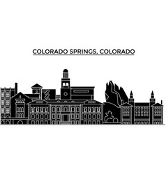 Usa colorado springs architecture city vector