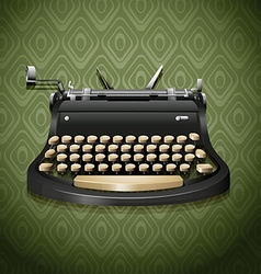 Vintage design of typewriter vector image