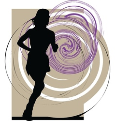 Woman Running vector image vector image