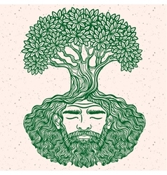 Bearded man protect the environment vector image