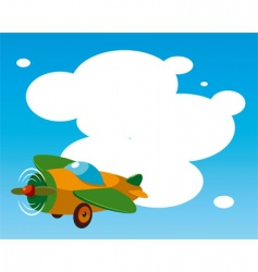 toy plane template vector image