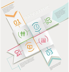 infographics four ribbons vector image