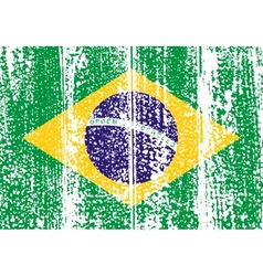 Brazilian grunge flag vector