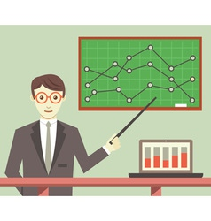 Data processing business planning vector