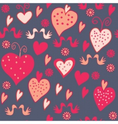 Hearts dark vector