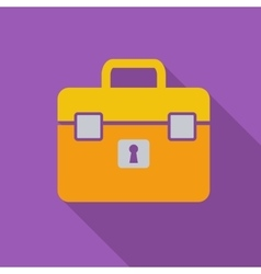 Briefcase single icon vector