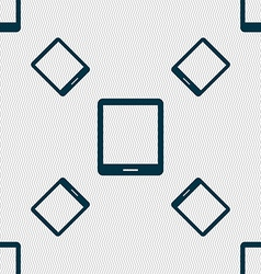 Tablet sign icon smartphone button seamless vector