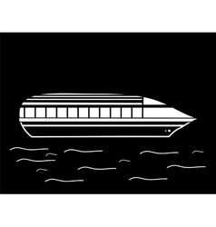 High speed passenger water white black vehicle vector
