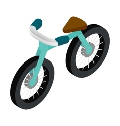 Bike 3d isometric icon vector