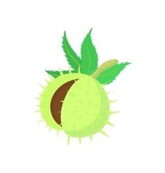 Hazelnuts icon cartoon style vector image