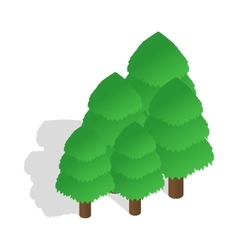 Trees icon in isometric 3d style vector