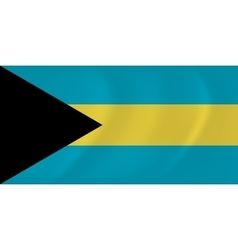 Bahamas waving flag vector