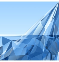 Blue Triangle Abstract Background vector image vector image