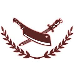 Butchers knife and blade sharpener vector