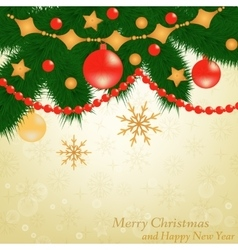 Christmas background postcard vector image