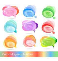 collection of colorful speech bubbles vector image