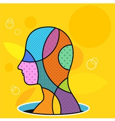 Colorful Head vector image