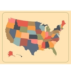 Colorful political usa map vector