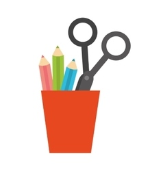 Cup holder stationary office supplies icon vector