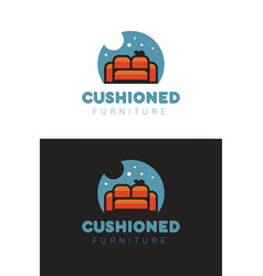 Cushioned furniture logo vector