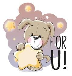 Cute Cartoon Puppy vector image vector image