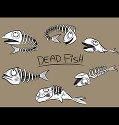 Dead fish bones vector