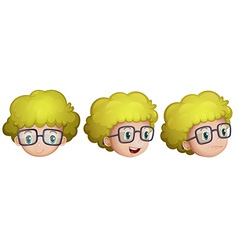 Different expressions of a boy vector image vector image