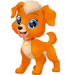 funny baby dog vector image