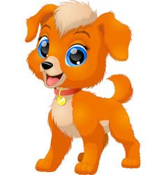 Funny baby dog vector