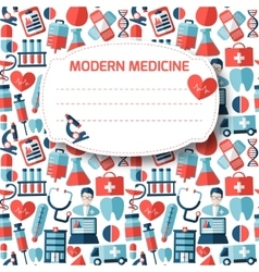 Funny medical pattern for your design vector