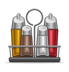 Glass shakers for salt and pepper vector