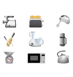 household appliances kitchen vector image