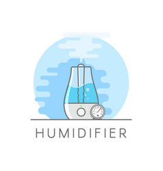Humidifier and hygrometer in flat style vaporizer vector