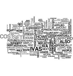 Ivas set to soar text background word cloud vector