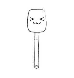 Kitchen spatula tool kawaii character vector