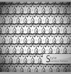 Mesh eyes monochrome vintage seamless pattern vector