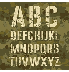 Military Alphabet vector image