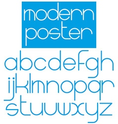 Modern font for poster brochure booklet flyer vector