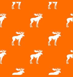 Moose pattern seamless vector