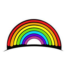 Rainbow icon icon cartoon vector