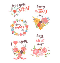 Set of lower templates of congratulations for vector